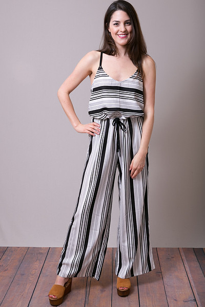 Mystree Stripe Romper