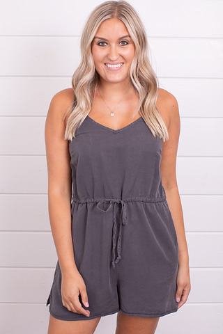 Wishlist Apparel Charcoal Romper