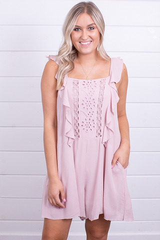 Wishlist Apparel The Darling Romper Blush