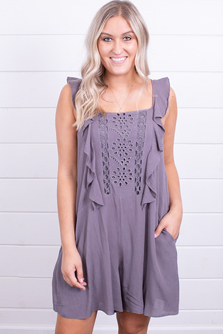 Wishlist Apparel The Darling Romper Charcoal
