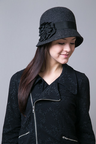 SD Hat Company Charcoal Wool Felt Hat