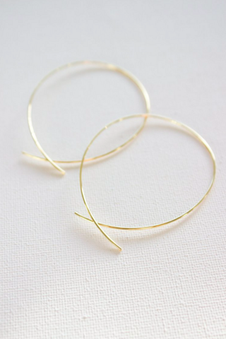 Katie Waltman Gold Large Loop Hoop