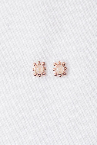 Curious Creatures Hannah Ear Studs Rose Gold