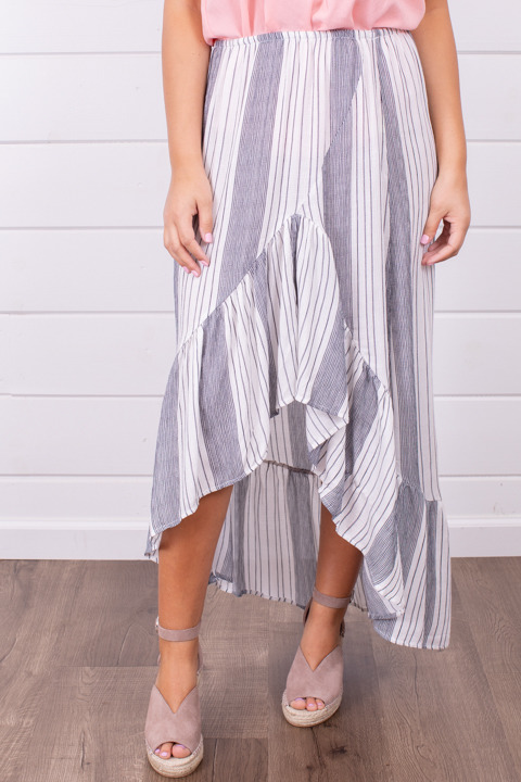 Lovestitch Yarn Dye Maxi Skirt