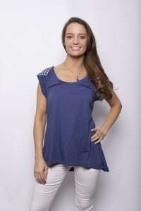 Misty Navy Top