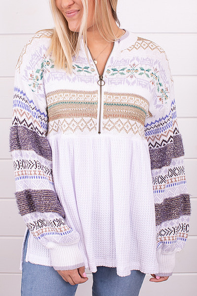 Free People Cozy Cottage Sweater 5