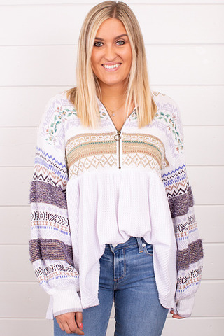 Free People Cozy Cottage Sweater