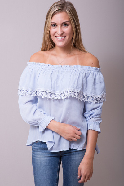 Powder Blue Blouse | Blouse | Entro
