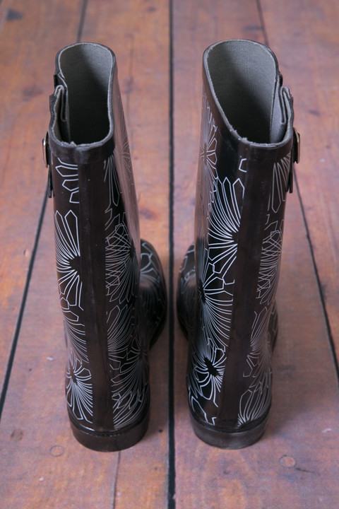 Black Paisley Rain Boot 3