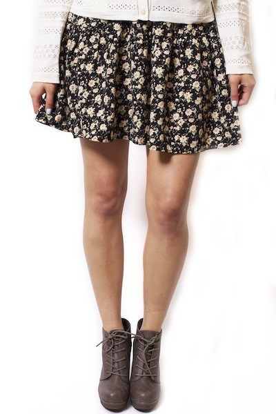Blu Pepper Floral Flip Skirt