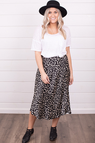 Black and White Skirt