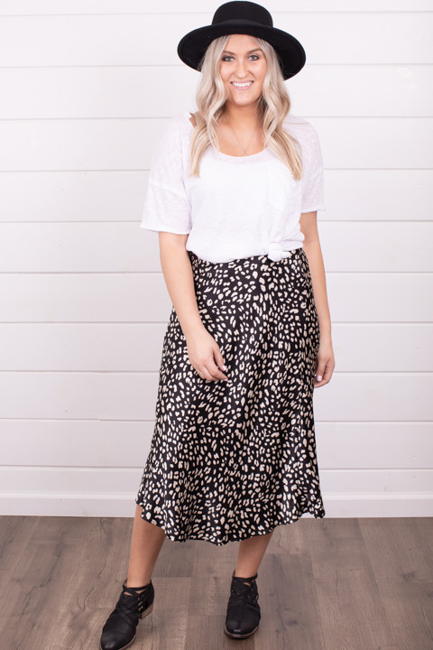 By Together Black and White Skirt