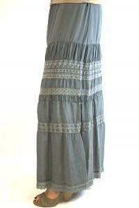 Multi Trim Long Skirt