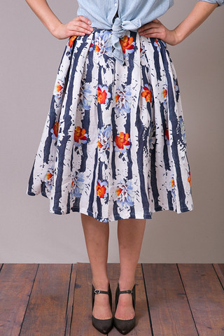 Floral Splash Skirt