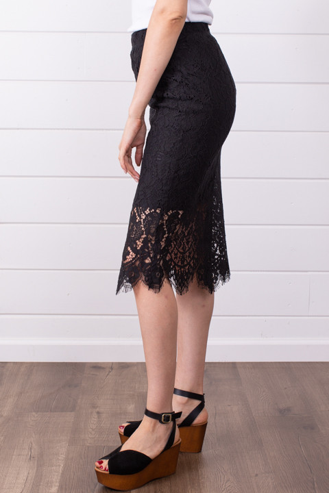 Lovestitch Black Lace Midi Skirt 2
