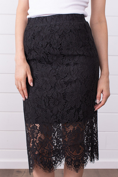 Lovestitch Black Lace Midi Skirt 3