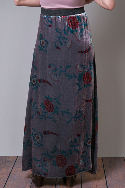 Johnny Was Collection Velvet Floral Skirt 3