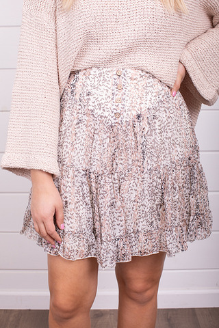 By Together Ivory Flirty Skirt