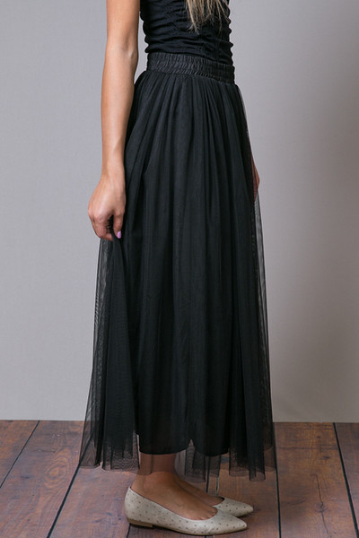 O2 Collection Black Tulle Skirt 3