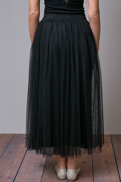 O2 Collection Black Tulle Skirt 4