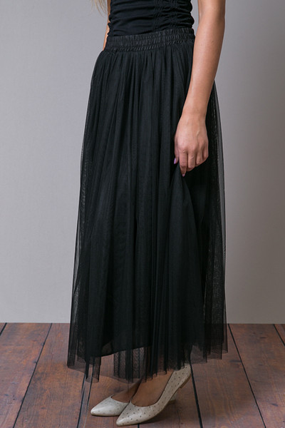 O2 Collection Black Tulle Skirt 2