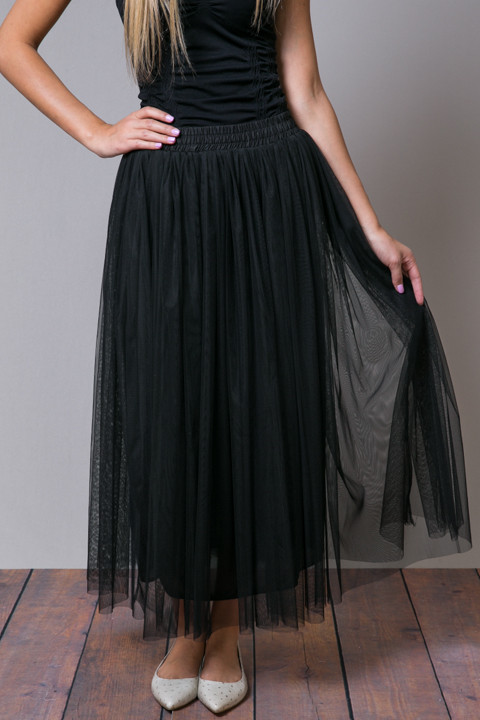 O2 Collection Black Tulle Skirt
