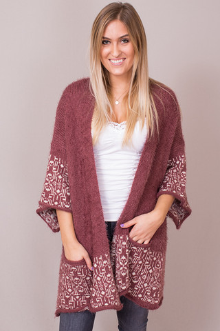 Easel Marsala Sweater
