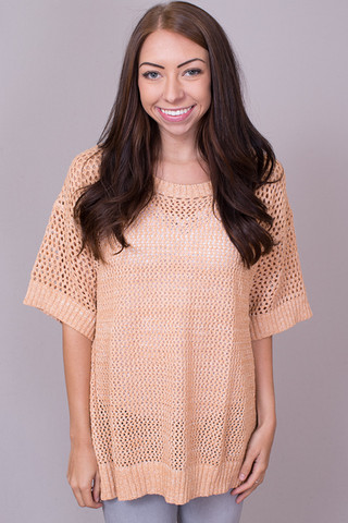 Easel Peachy Knit Top
