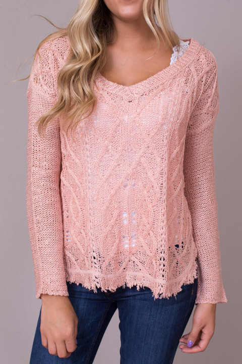 Dusty Pink Sweater | Sweater | En Creme