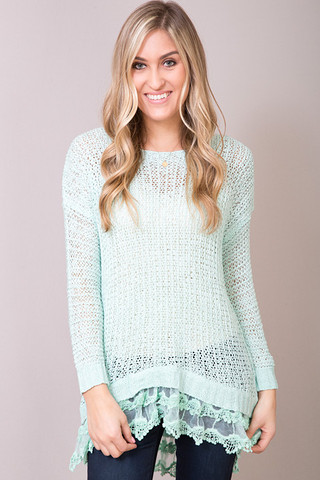 Entro Sea Foam Sweater
