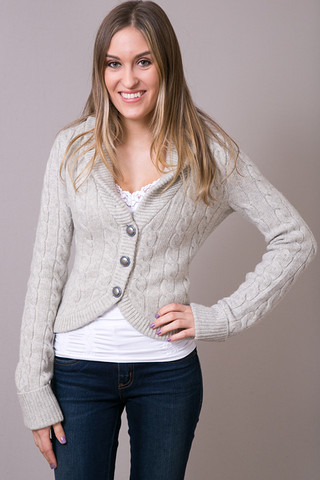 Ivory Heather Cardigan