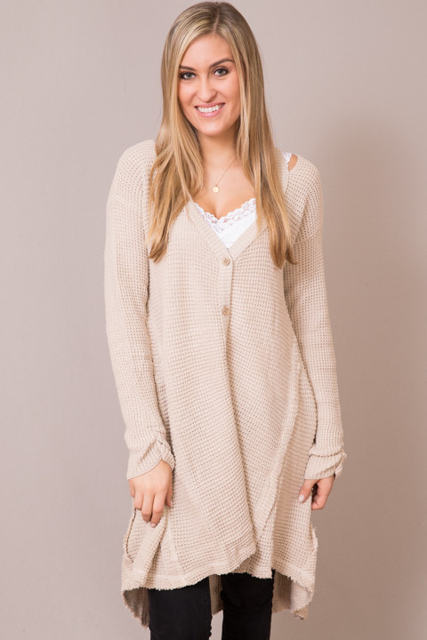 Hayden Cream Knit Cardigan