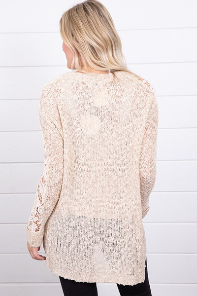 Hayden Crochet Sleeve Sweater 3
