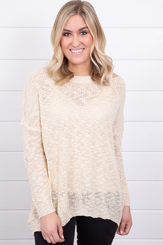 Hayden Knit Cross Back Sweater