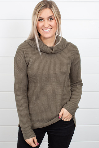 Heartloom Olive Winter Sweater