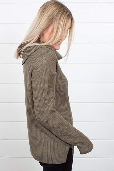 Heartloom Olive Winter Sweater 4