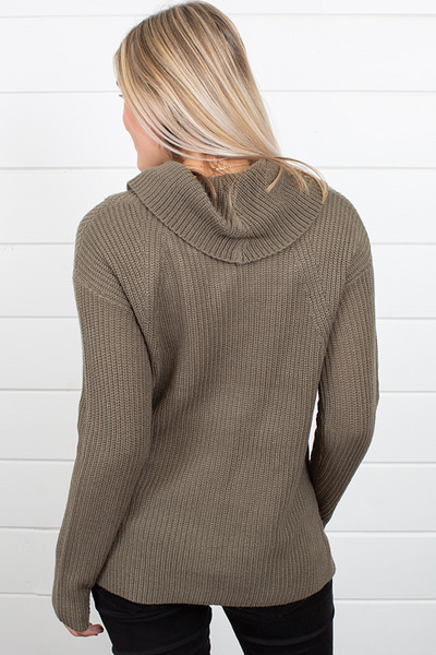 Heartloom Olive Winter Sweater 2