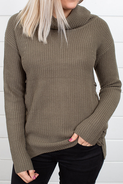 Heartloom Olive Winter Sweater 3