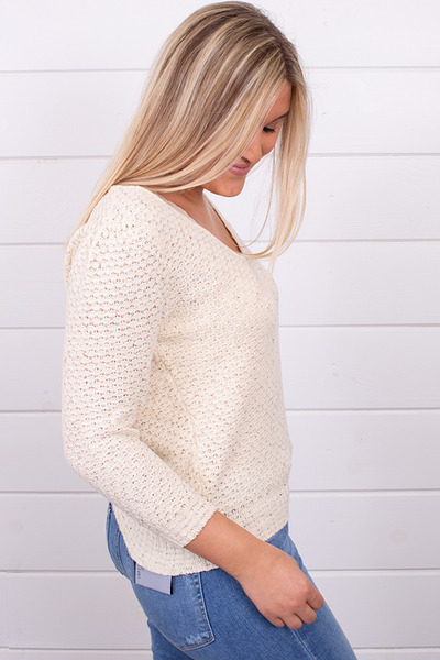 Knot Sisters Genie Sweater Natural 2
