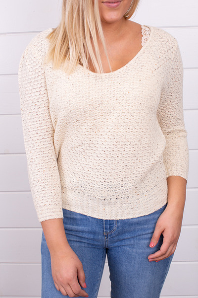 Knot Sisters Genie Sweater Natural 3