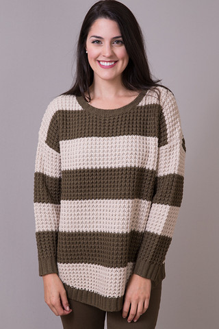 Knot Sisters Oatmeal and Toffee Purba Sweater