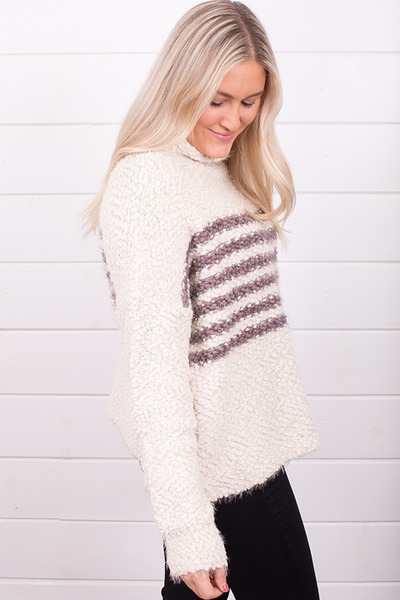 Lovestitch Stripe Popcorn Sweater 3