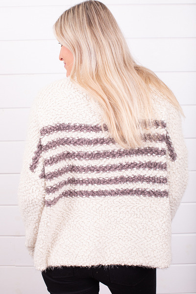 Lovestitch Stripe Popcorn Sweater 2