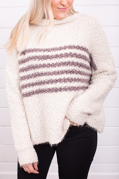 Lovestitch Stripe Popcorn Sweater 4
