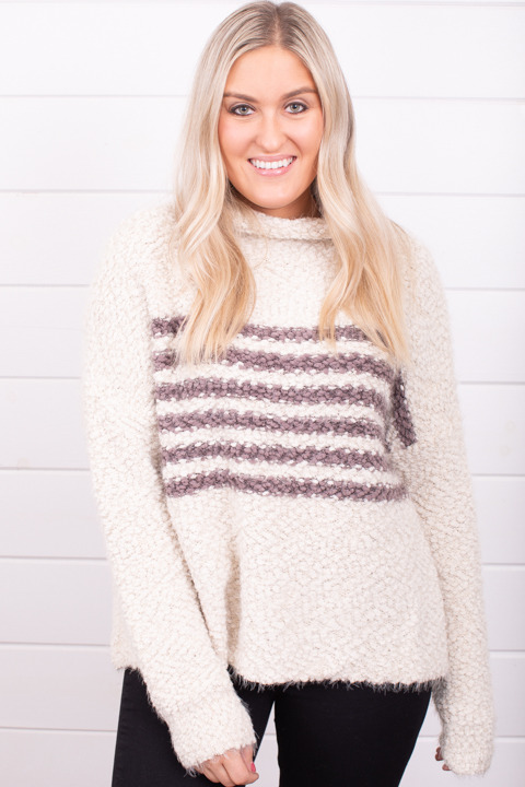 Lovestitch Stripe Popcorn Sweater