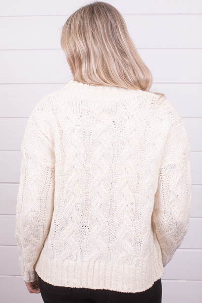 Mystree Cable Knit Sweater 3