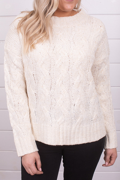 Mystree Cable Knit Sweater 4