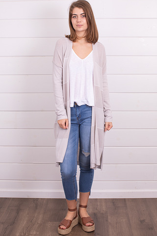 Mystree Light Grey Cardigan