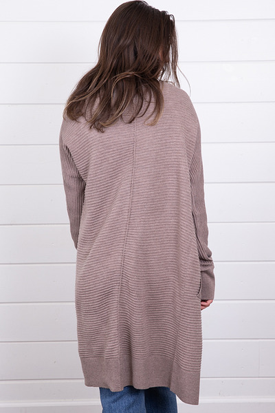 Mystree Mauve Ribbed Cardigan 4