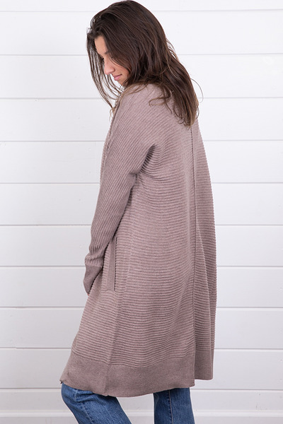 Mystree Mauve Ribbed Cardigan 3